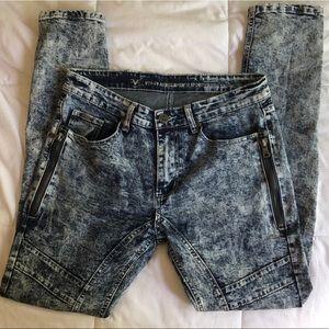 Versace V1969 - Acid Wash Skinny Jeans - Kickass